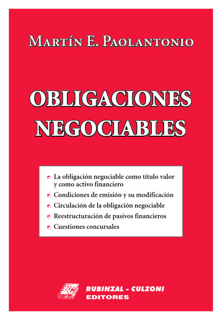 Obligaciones Negociables.