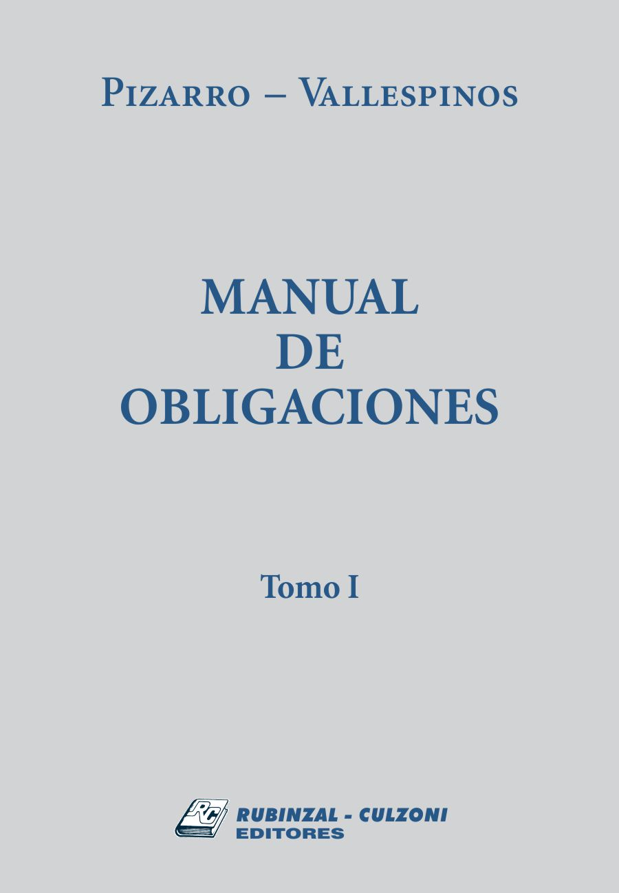 Manual de Obligaciones tomo I
