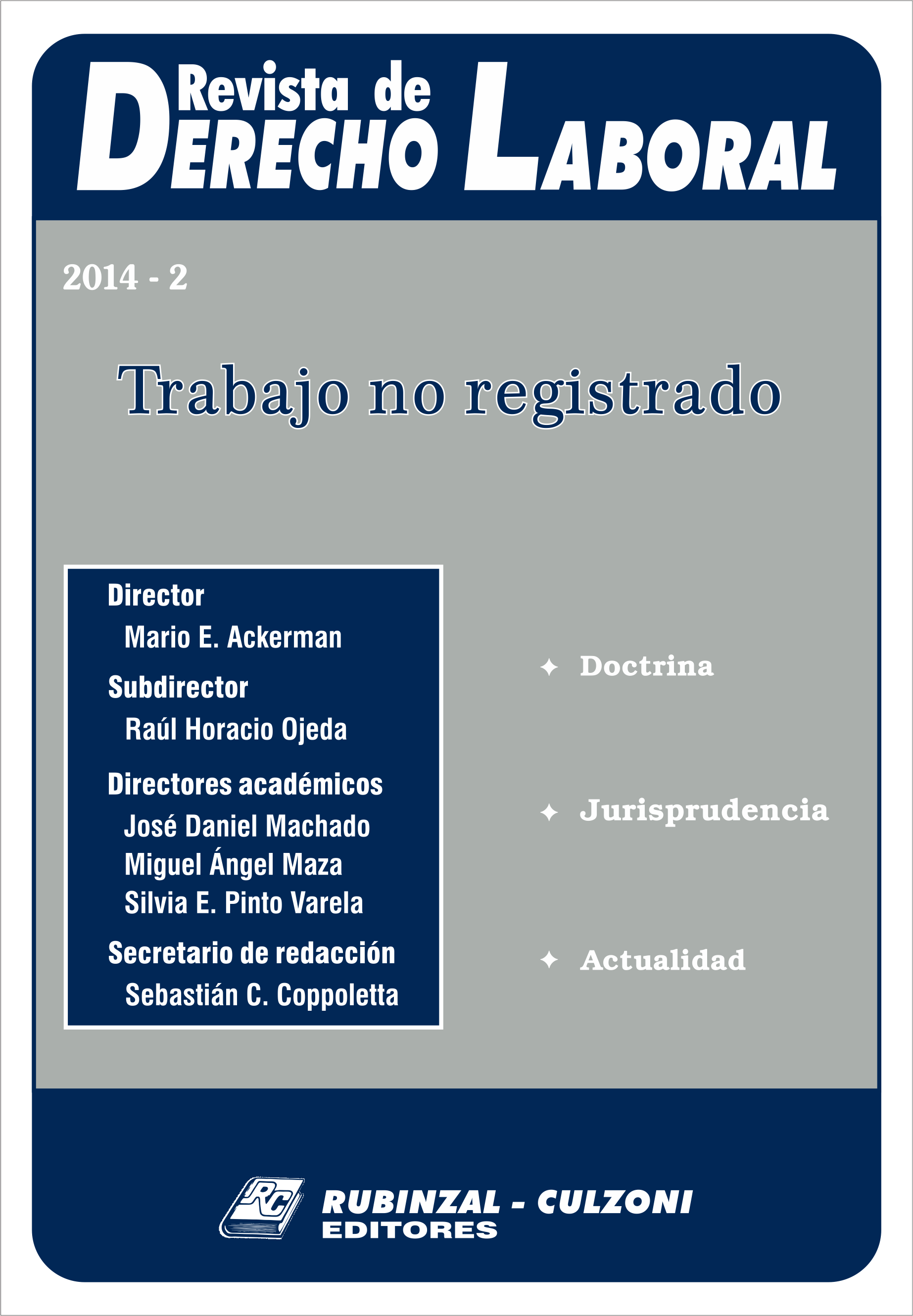 - Trabajo no registrado [2014-2]