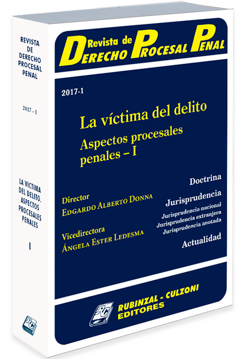 c2b2a8c89a Revista de Derecho Procesal Penal - Tienda OnLine - Rubinzal Culzoni ...